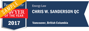 Chris W. Sanderson QC has earned a Lawyer of the Year award for 2017!