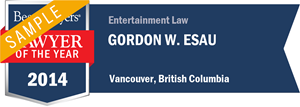 Gordon W. Esau has earned a Lawyer of the Year award for 2014!