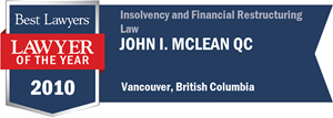 John I. McLean QC has earned a Lawyer of the Year award for 2010!