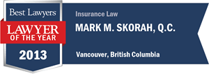 Mark M. Skorah , Q.C. has earned a Lawyer of the Year award for 2013!