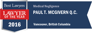 Paul T. McGivern has earned a Lawyer of the Year award for 2016!