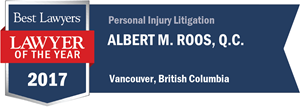 Albert M. Roos , Q.C. has earned a Lawyer of the Year award for 2017!