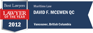 David F. McEwen QC has earned a Lawyer of the Year award for 2012!