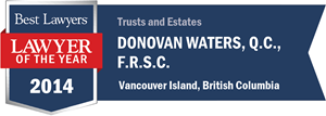 Donovan Waters , Q.C., F.R.S.C. has earned a Lawyer of the Year award for 2014!