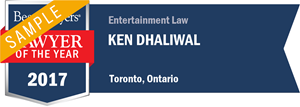 Ken Dhaliwal has earned a Lawyer of the Year award for 2017!