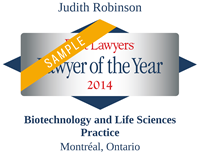 Best Lawyers - Lawyer of the Year 2014 - Judith Robinson