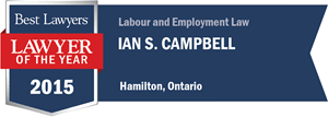 Ian S. Campbell has earned a Lawyer of the Year award for 2015!