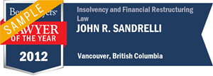 John R. Sandrelli has earned a Lawyer of the Year award for 2012!