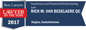 Rick M. Van Beselaere QC has earned a Lawyer of the Year award for 2017!
