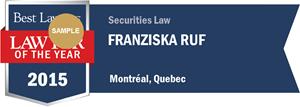 Franziska Ruf has earned a Lawyer of the Year award for 2015!