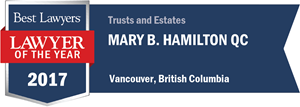 Mary Hamilton has earned a Lawyer of the Year award for 2017!