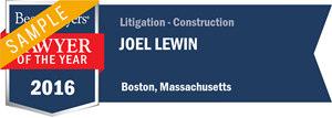 Joel Lewin has earned a Lawyer of the Year award for 2016!