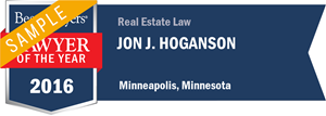 Jon J. Hoganson has earned a Lawyer of the Year award for 2016!