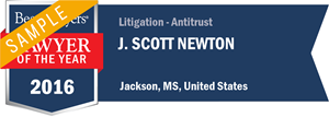 J. Scott Newton has earned a Lawyer of the Year award for 2016!