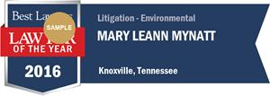 Mary LeAnn Mynatt has earned a Lawyer of the Year award for 2016!