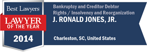 J. Ronald Jones, Jr. has earned a Lawyer of the Year award for 2014!