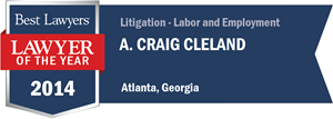 A. Craig Cleland has earned a Lawyer of the Year award for 2014!