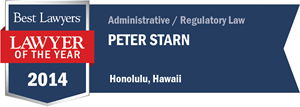 Peter Starn has earned a Lawyer of the Year award for 2014!