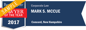 Mark S. McCue has earned a Lawyer of the Year award for 2017!