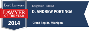 D. Andrew Portinga has earned a Lawyer of the Year award for 2014!