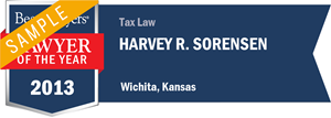 Harvey R. Sorensen has earned a Lawyer of the Year award for 2013!