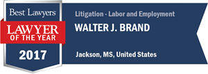 Walter J. Brand has earned a Lawyer of the Year award for 2017!