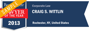 Craig S. Wittlin has earned a Lawyer of the Year award for 2013!