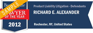 Richard E. Alexander has earned a Lawyer of the Year award for 2012!