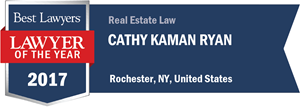 Cathy Kaman Ryan has earned a Lawyer of the Year award for 2017!