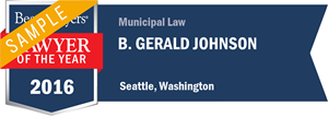 B. Gerald Johnson has earned a Lawyer of the Year award for 2016!