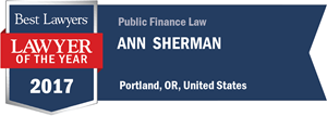 Ann L. Sherman has earned a Lawyer of the Year award for 2017!