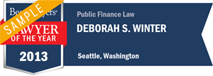 Deborah S. Winter has earned a Lawyer of the Year award for 2013!