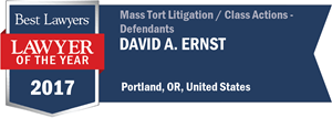David A. Ernst has earned a Lawyer of the Year award for 2017!