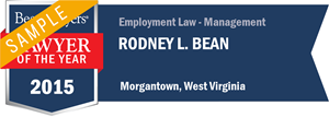 Rodney L. Bean has earned a Lawyer of the Year award for 2015!