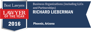 Richard Lieberman has earned a Lawyer of the Year award for 2016!