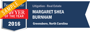 Margaret Shea Burnham has earned a Lawyer of the Year award for 2016!