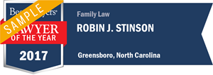 Robin J. Stinson has earned a Lawyer of the Year award for 2017!