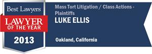 Luke Ellis has earned a Lawyer of the Year award for 2013!
