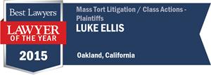 Luke Ellis has earned a Lawyer of the Year award for 2015!