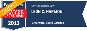 Leon C. Harmon has earned a Lawyer of the Year award for 2013!