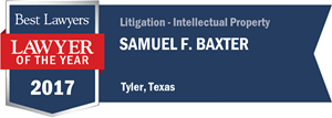 Samuel F. Baxter has earned a Lawyer of the Year award for 2017!