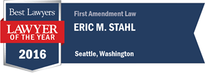 Eric M. Stahl has earned a Lawyer of the Year award for 2016!