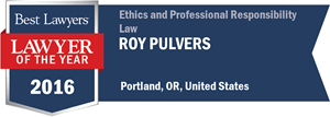 Roy Pulvers has earned a Lawyer of the Year award for 2016!