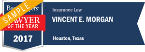 Vincent E. Morgan has earned a Lawyer of the Year award for 2017!
