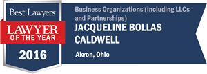 Jacqueline Bollas Caldwell has earned a Lawyer of the Year award for 2016!