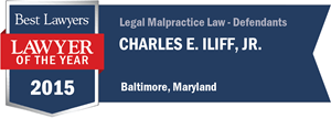 Charles E. Iliff, Jr. has earned a Lawyer of the Year award for 2015!