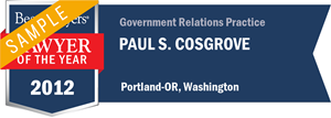 Paul S. Cosgrove has earned a Lawyer of the Year award for 2012!