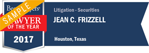 Jean C. Frizzell has earned a Lawyer of the Year award for 2017!