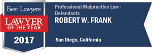 Robert W. Frank has earned a Lawyer of the Year award for 2017!
