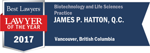 James P. Hatton , Q.C. has earned a Lawyer of the Year award for 2017!